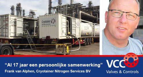 Frank van Alphen Cryotainer - Samenwerking VCC BV